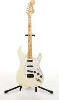 Musical Instruments:Electric Guitars, 1978-81 Fender American Stratocaster Olympic White Electric Guitar #S953748....