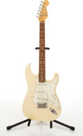 Musical Instruments:Electric Guitars, 1989/90 Fender American Stratocaster Olympic White Electric Guitar #E973039....