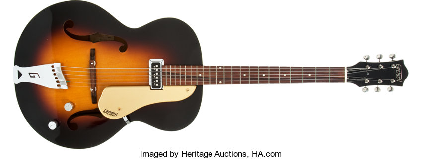 Musical InstrumentsElectric Guitars 1956 Gretsch 1686 Sunburst Archtop Semi Hollow Body Electric