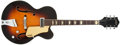 Musical Instruments:Electric Guitars, 1957 Gretsch 6190 Streamliner Sunburst Archtop Semi-Hollow BodyElectric Guitar #22225....