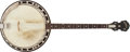 Musical Instruments:Banjos, Mandolins, & Ukes, 1937 Gibson Style 150 Brown Stain Tenor Banjo, #1109-24....