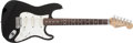 Musical Instruments:Electric Guitars, 1984 Fender Strat Plus Black Solid Body Electric Guitar,#E458421....