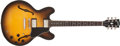 Musical Instruments:Electric Guitars, 2001 Gibson ES-335 Dot Reissue Sunburst Semi-Hollow Body ElectricGuitar #00621431...