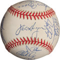 Baseball Collectibles:Balls, 1997 Cleveland Indians Team Signed Baseball - World SeriesSeason!...
