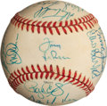Baseball Collectibles:Balls, 1990 American League All Stars Team Signed Baseball (28 Signatures) - With Puckett and McGwire!...