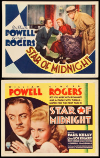 """Star of Midnight (RKO, 1935). Title Lobby Card and Lobby Card (11"""" X 14""""). Mystery. ... (Total: 2 Items)"""