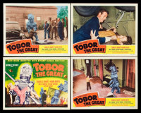 """Tobor the Great (Republic, 1954). Title Lobby Card and Lobby Cards (3) (11"""" X 14""""). Science Fiction. ... (Tota..."""