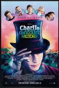 """Charlie and the Chocolate Factory Lot (Warner Brothers, 2005). One Sheets (3) (27"""" X 40"""") DS Advance Styles A..."""