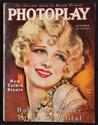 "Photoplay (Photoplay Publishing Company, October, 1929). Magazine (156 Pages, 8.75"" X 11.5""). Miscellaneous..."