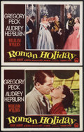"Movie Posters:Romance, Roman Holiday (Paramount, 1953). Lobby Cards (2) (11"" X 14""). Romance.. ... (Total: 2 Items)"