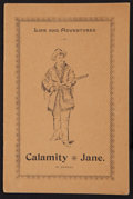 "Movie Posters:Western, Calamity Jane (Unknown, 1896). Autobiographical Pamphlet (7 Pages) (4.25"" X 6.5""). Western.. ..."
