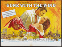 "Gone with the Wind (MGM, R-1968). British Quad (30"" X 40""). Academy Award Winners"