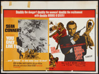 "You Only Live Twice/From Russia With Love Combo (United Artists, R-1970s). British Quad (30"" X 40""). James Bon..."