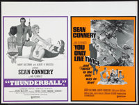 "Thunderball/You Only Live Twice Combo (United Artists, R-1970s). British Quad (30"" X 40""). James Bond"