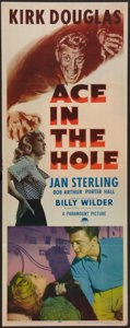 "Movie Posters:Film Noir, Ace In The Hole (Paramount, 1951). Insert (14"" X 36""). Film Noir.. ..."