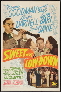 """Sweet and Low-Down (20th Century Fox, 1944). One Sheet (27"""" X 41""""). Musical"""