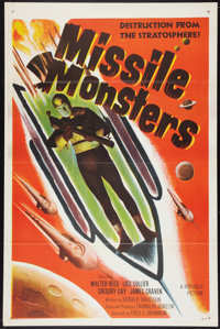 "Missile Monsters (Republic, 1958). One Sheet (27"" X 41""). Science Fiction"