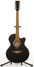 Musical Instruments:Acoustic Guitars, Crescent AE Black Electric Acoustic Guitar # N/A....