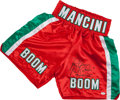 """Boxing Collectibles:Autographs, Ray """"Boom Boom"""" Mancini Signed Trunks...."""