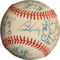 Baseball Collectibles:Balls, 1988 American League All Stars Team Signed Baseball (28Signatures)....