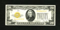 Small Size:Gold Certificates, Fr. 2402 $20 1928 Gold Certificate. Choice About Uncirculated.. Dark orange ink and ample margins make for a stunning lightl...