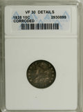 Bust Dimes: , 1825 10C --Corroded--ANACS. VF30 Details. NGC Census: (3/70). PCGSPopulation (1/66). Mintage: 410,000. Numismedia Wsl. Pric...