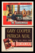 "Movie Posters:Drama, The Fountainhead (Warner Brothers, 1949). Title Lobby Card andScene Card (11"" X 14""). Drama.. ... (Total: 2 Items)"