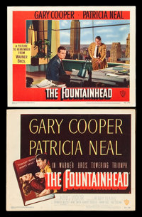 "The Fountainhead (Warner Brothers, 1949). Title Lobby Card and Scene Card (11"" X 14""). Drama. ... (Total: 2 It..."