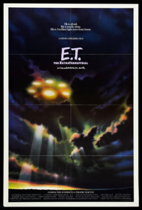 "E.T. The Extra-Terrestrial (Universal, 1982). One Sheet (27"" X 41"") Advance. Science Fiction"