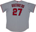 Baseball Collectibles:Uniforms, 2006 Vladimir Guerrero Game Worn Jersey....