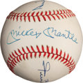 Autographs:Baseballs, Mickey Mantle, Willie Mays, And Duke Snider Multi Signed Baseball....
