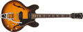 Musical Instruments:Electric Guitars, 1962 Gibson ES-330 Sunburst Semi-Hollow Electric Guitar, #51702....