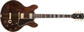 Musical Instruments:Electric Guitars, 1970-1975 Gibson ES-345 Brown Stain Semi-Hollow Body ElectricGuitar, #111511...