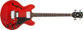 Musical Instruments:Electric Guitars, 1968 Gibson EB-2 Cherry Semi-Hollow Electric Bass, #530777. ...