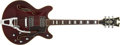 Musical Instruments:Electric Guitars, Late 1960s Standel 520-CV Burgundy Semi-Hollow Electric, #1053k....
