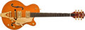 Musical Instruments:Electric Guitars, Modern Gretsch 6120JR2 Orange Hollow-Body Electric Guitar,#997120JR-140....