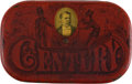 Political:3D & Other Display (pre-1896), James Garfield and Winfield S. Hancock: Campaign Century Tobacco Pocket Tin....