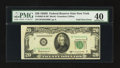 Error Notes:Foldovers, Fr. 2063-B $20 1950D Federal Reserve Note. PMG Extremely Fine 40.....