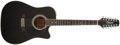 Musical Instruments:Acoustic Guitars, 1991 Takamine EF-381C Black 12-String Acoustic Electric Cutaway Guitar #91031677...
