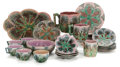 Ceramics & Porcelain, AN AMERICAN MAJOLICA ETRUSCAN SHELL AND SEAWEED PATTERN TWENTY-NINE PIECE PARTIAL SERVICE . Griffen, Smith and H... (Total: 29 Items)