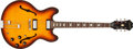 Musical Instruments:Electric Guitars, 1964 Epiphone Riviera Sunburst Semi-Hollow Electric, #102786. ...