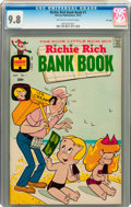 Bronze Age (1970-1979):Humor, Richie Rich Bank Book #1 File Copy (Harvey, 1972) CGC NM/MT 9.8Off-white to white pages....