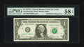 Error Notes:Inking Errors, Fr. 1910-H $1 1977A Federal Reserve Note. PMG Choice About Unc 58 EPQ; Fr. 1927-G* $1 2001 Federal Reserve Star Note. PMG Choi... (Total: 2 notes)
