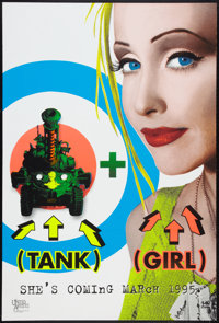 "Tank Girl (United Artists, 1995). One Sheets (2) (27"" X 40"")SS Silk Screen Advance and DS Regular. Action..."