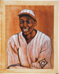 Baseball Collectibles:Others, Cool Papa Bell Original Oil Painting....