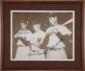 Baseball Collectibles:Photos, Joe DiMaggio, Ted Williams and Mickey Mantle Signed Prints Lot of2....