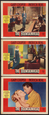 "The Fountainhead (Warner Brothers, 1949). Lobby Cards (3) (11"" X 14""). Drama. ... (Total: 3 Items)"
