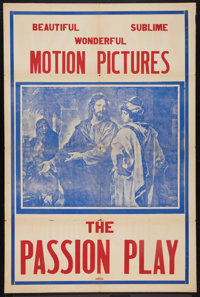 "The Passion Play (Edison, R-1930s). One Sheet (27"" X 41""). Drama"