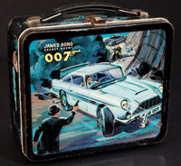 "James Bond (Aladdin, 1966). Aladdin Lunch Box (4"" X 7"" X 8""). James Bond"