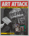 Books:Signed Editions, Robbie Conal. INSCRIBED. Art Attack: The Midnight Politics of a Guerrilla Artist. [New York]: Harper, [1992]. First ...